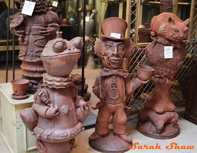Whimsical Garden Statues From Goff Creek Pottery At The Antique And Garden  Fair, Chicago Via