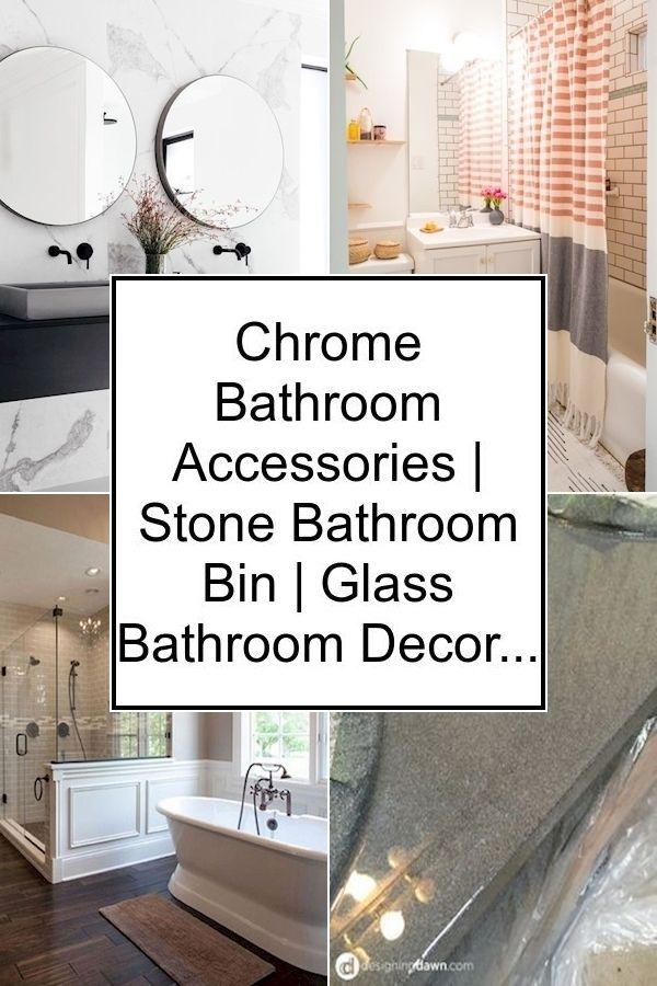 Chrome Bathroom Accessories Stone Bathroom Bin Glass Bathroom Decor Glass Bathroom Bathroom Bin Bathroom Decor