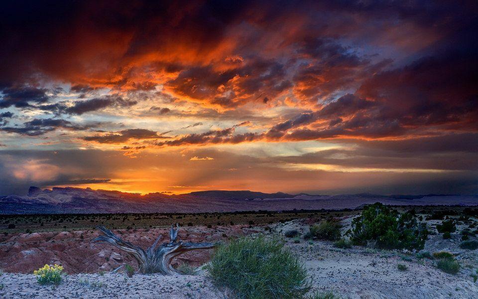 Western Sunset Desert Sunset Landscape Pictures Sunset Wallpaper