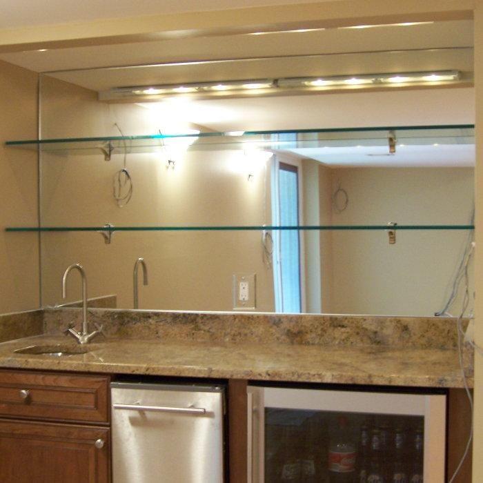 glass bar shelves | Bling for the bar...H2O | Pinterest