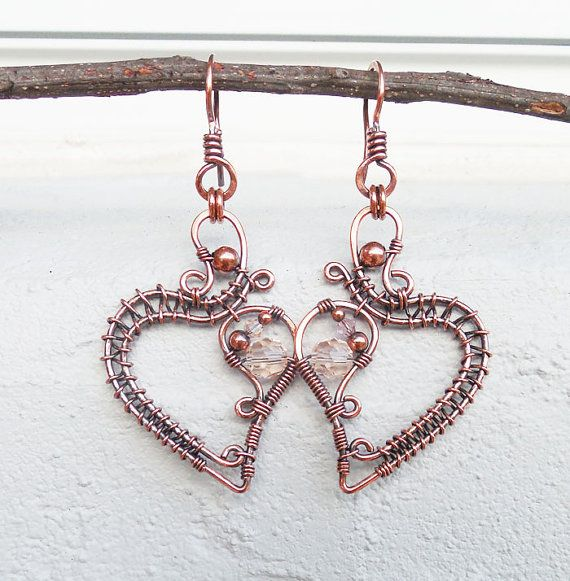 Bohemian earrings statement earrings wire wrapped jewelry | 4 ...