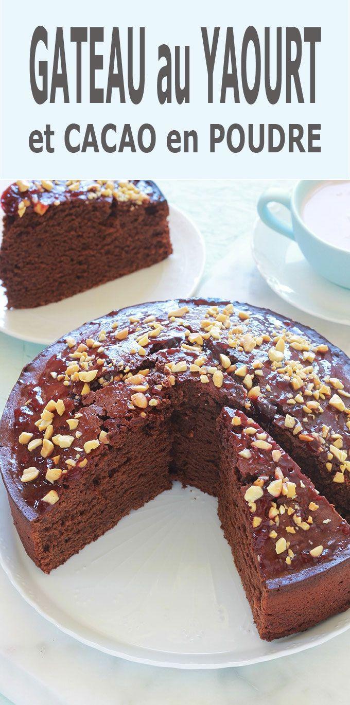 Gâteau au yaourt et cacao en poudre, recette facile