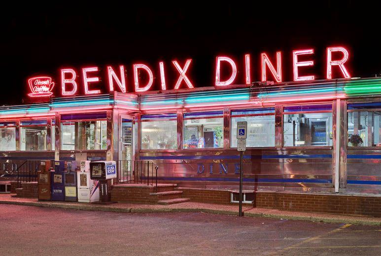 Night Road American Diner Diner Vintage Diner