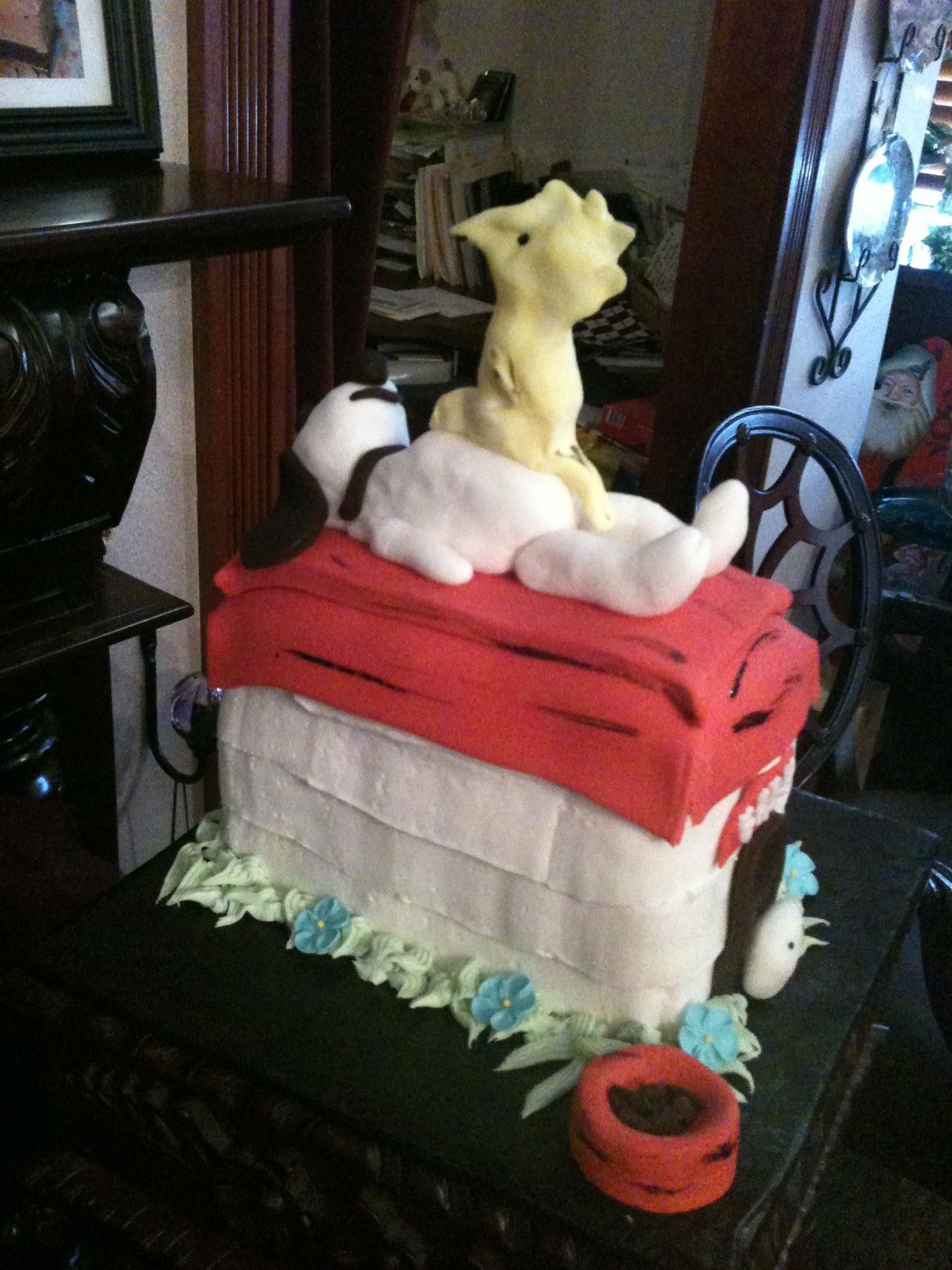 Trifles' Snoopy/Woodstock Baby Shower Cake