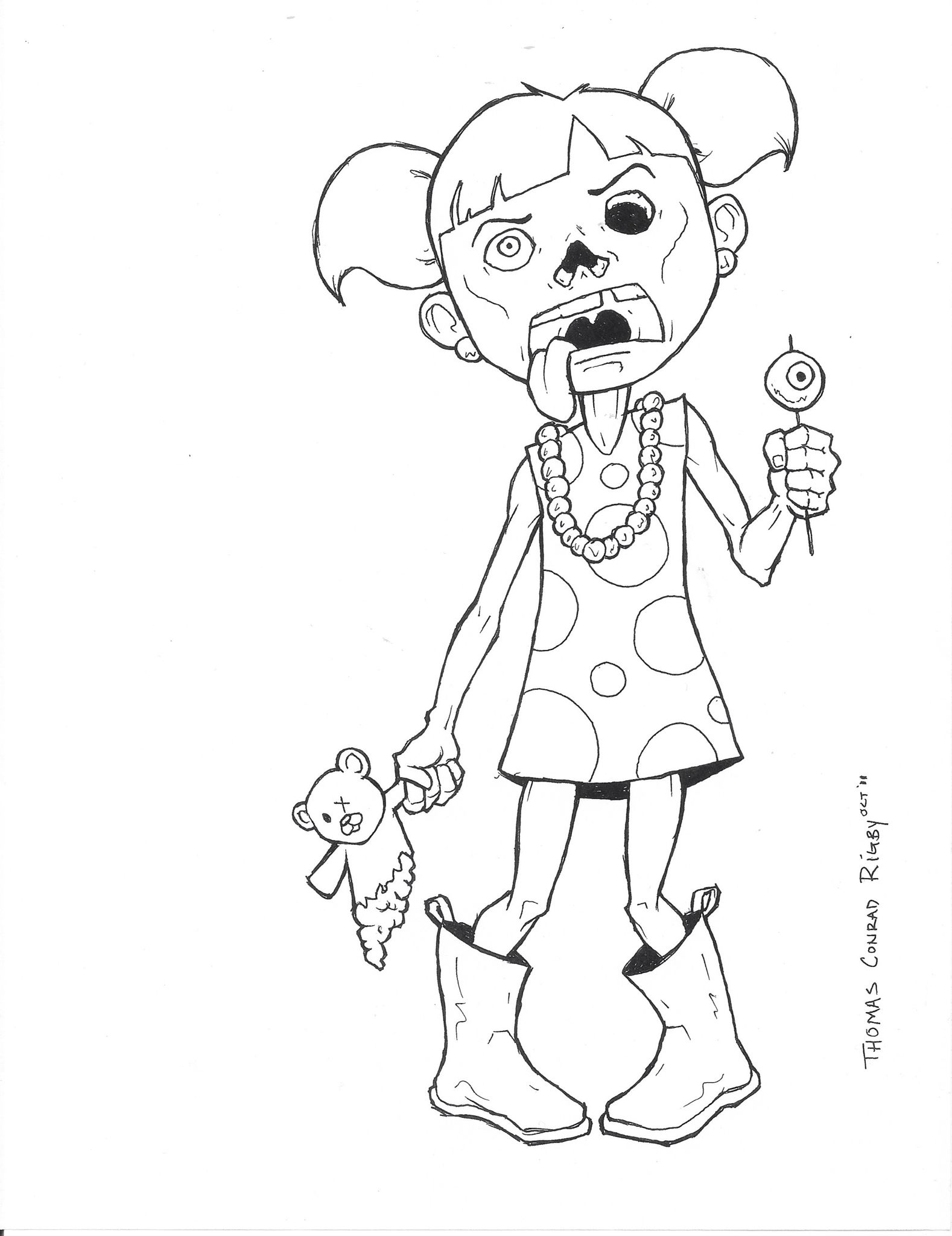 Zombie Coloring Page Fall Coloring Pages Disney Coloring Pages Cute Coloring Pages