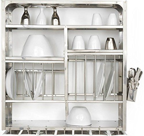 Dish Dryer Display Rack Stainless Steel - Wall Hanging (76x24x76 Cm) RBJ   sc 1 st  Pinterest & Dish Dryer Display Rack Stainless Steel - Wall Hanging (76x24x76 Cm ...