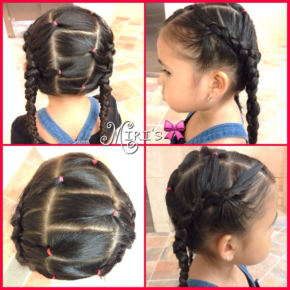 two braid hair style for little girls | hairstyles for little