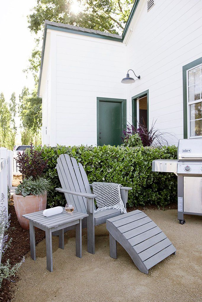 Small Scale Patio Furniture If You Don T Have Room For An Outdoor Sofa Or Settee Consider Using Adirondack Chair With A Foot Stool That Can Be Moved
