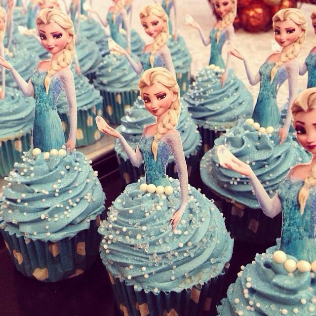 Peachy Elsa Cupcake Toppers Frozen Themed Birthday Party Frozen Funny Birthday Cards Online Elaedamsfinfo