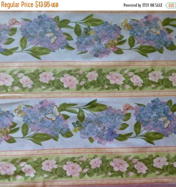 Clearance SALE Cotton Fabric , Quilt Fabric, Home Decor, Floral ... : hydrangea quilt fabric - Adamdwight.com