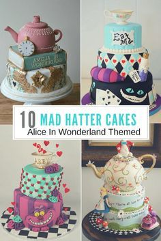 10 Mad Hatter Cake Ideas From Alice In Wonderland Mad Hatter