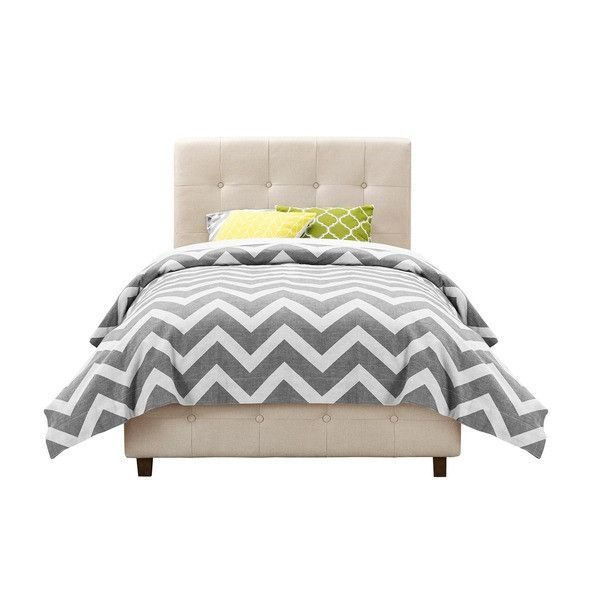 DHP Rose Linen Tufted Upholstered Platform Bed, Twin, Tan | home ...