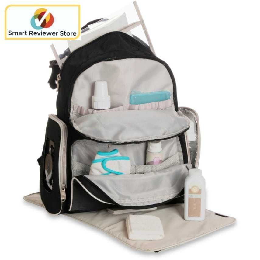 832e08e4f0 Backpack Diaper Bag with Smart Organizer System Black Gotham Collection By  Graco Mom and Dad will both be comfortable carrying the Gotham Backpack.