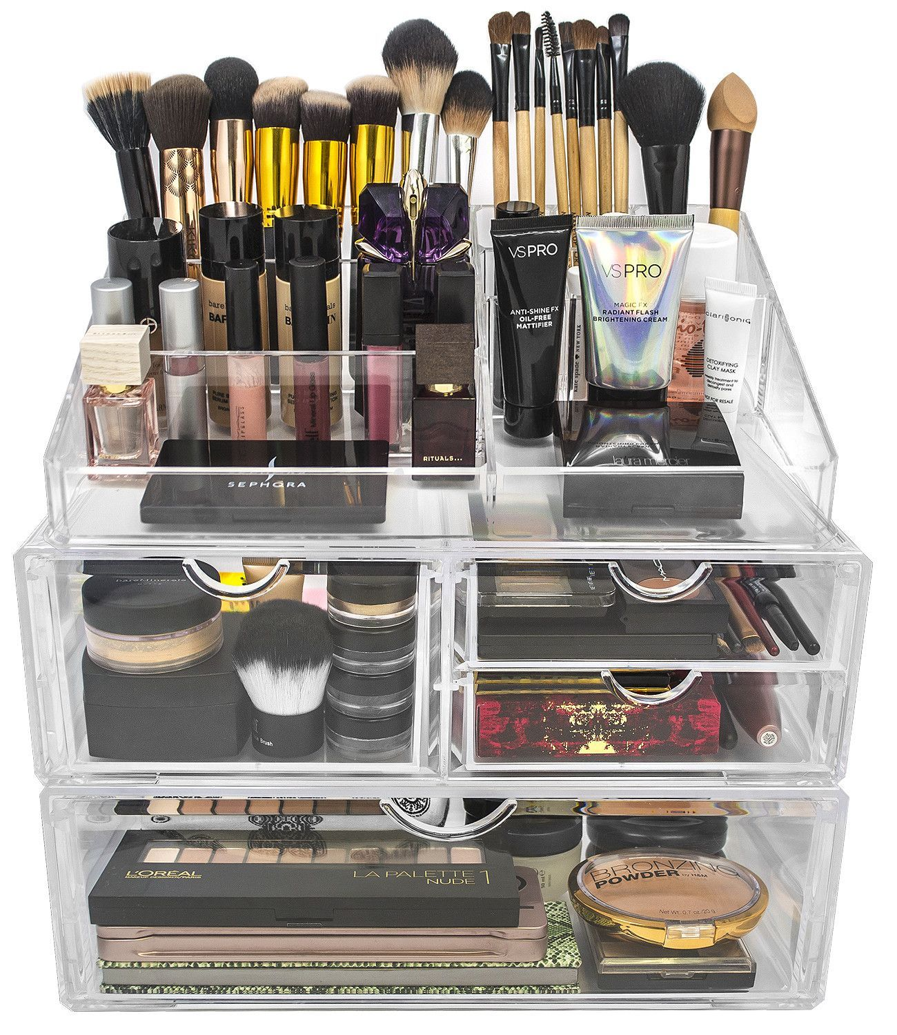 Acrylic 4 Drawer with Sectional Organizer (With images