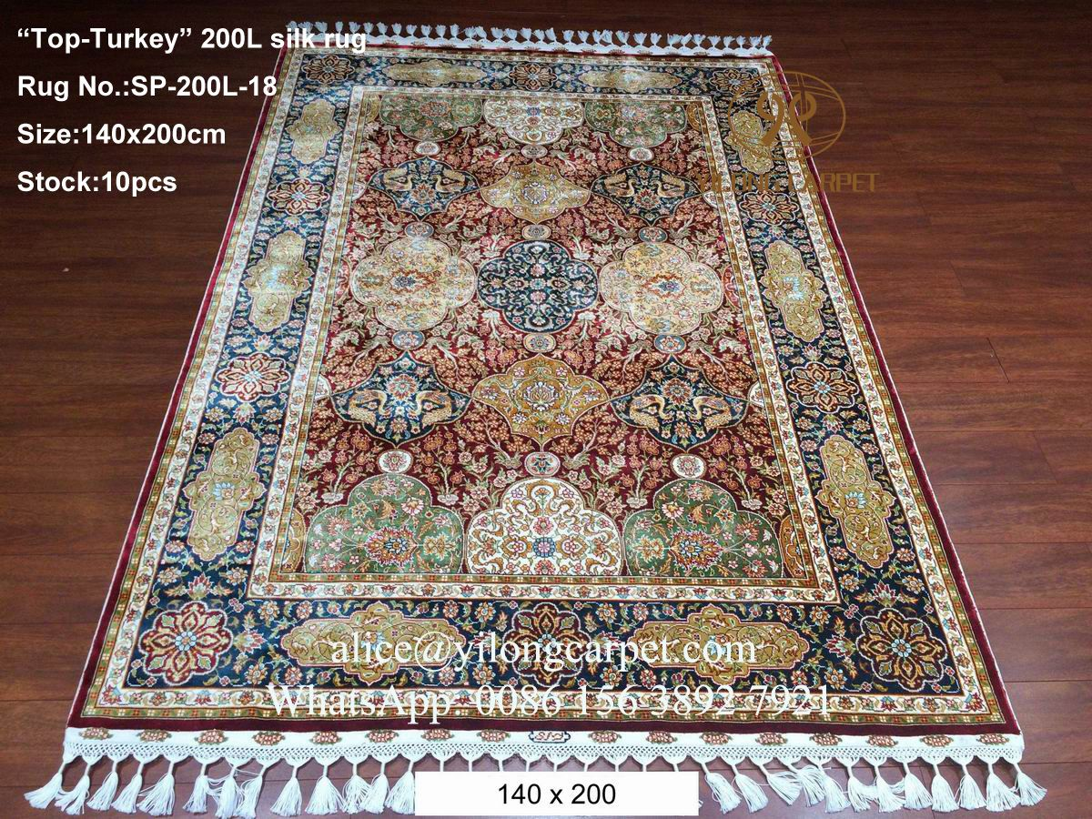 Handmade Silk Rug Size 140x200cm Alice Yilongcarpet Rugs Online Www
