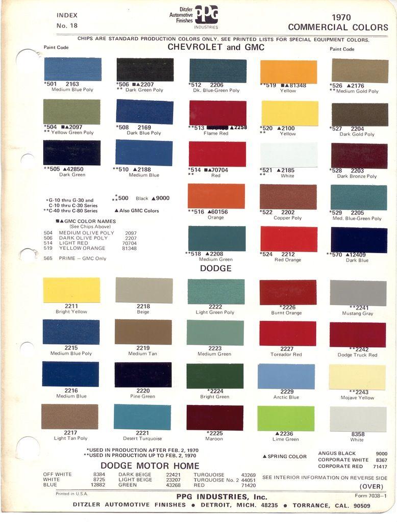 1970 chevrolet truck paint codes google search [ 778 x 1024 Pixel ]