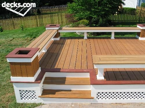 Charming Deck Bench And Railings   Google Search