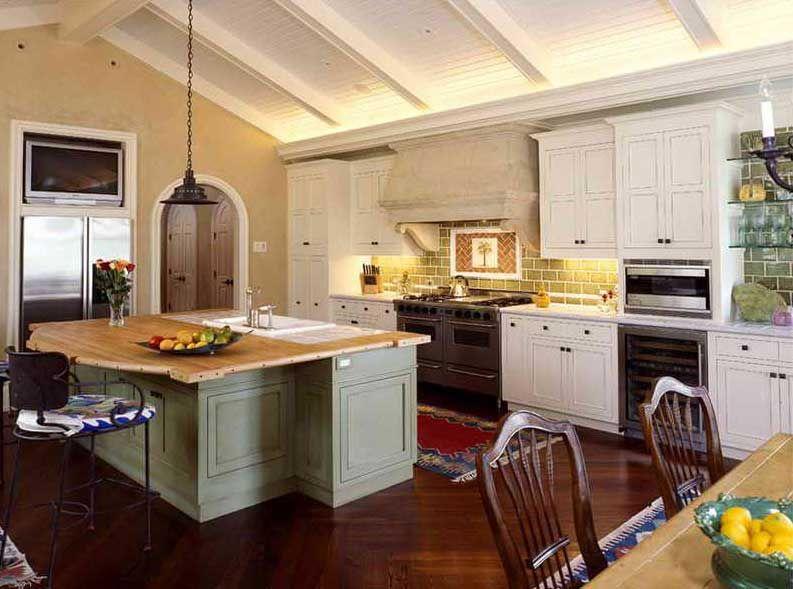 Günstige kleine küchen rustikale designideen mit holz ...