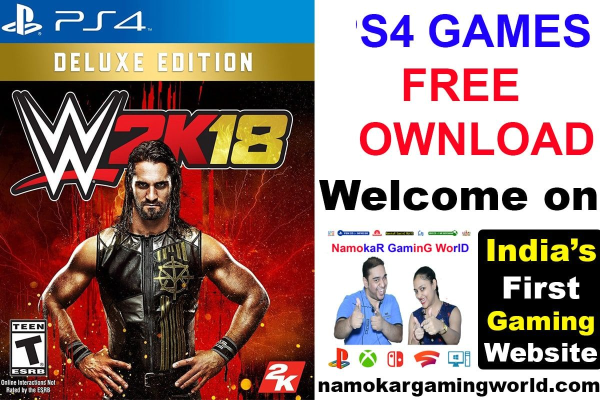 WWE 2K18 PS4 Ps4 free games, Ps4 games, Ps4