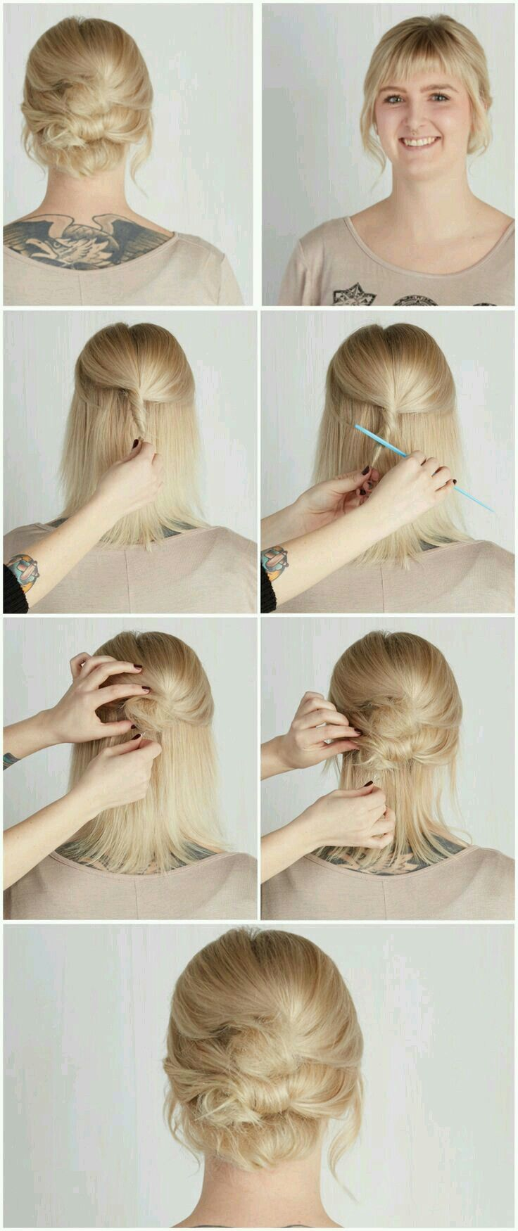 Pin by tamara on rockabilly pinterest easy updo updo and short hair
