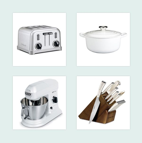 Bridal White Kitchen #wedding #registry Www.newlywish.com