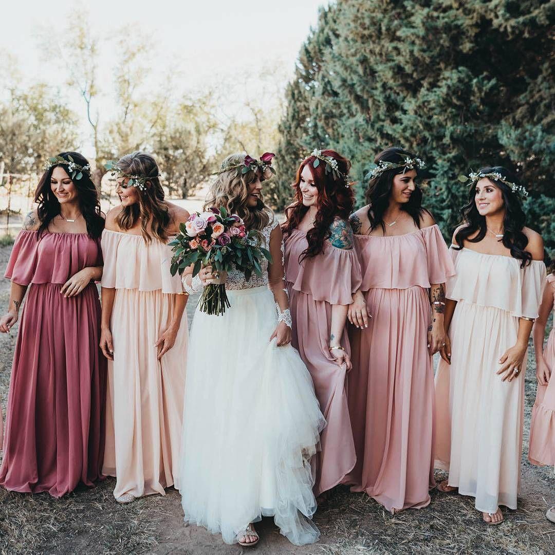 Abigail Chiffon Dress In 2020 Bridesmaid Dresses Boho Bridesmaid Dresses Bohemian Bridesmaid