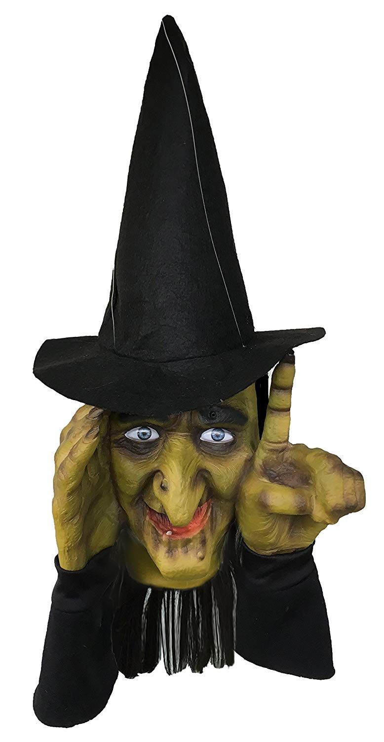 Scary Halloween Decoration Tapping Witch Props