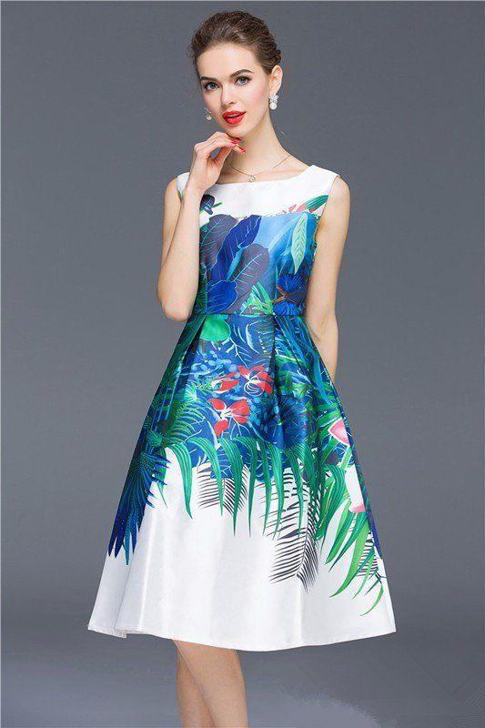 17ca719dd8 White Multi Printed Western Dress For Girl.