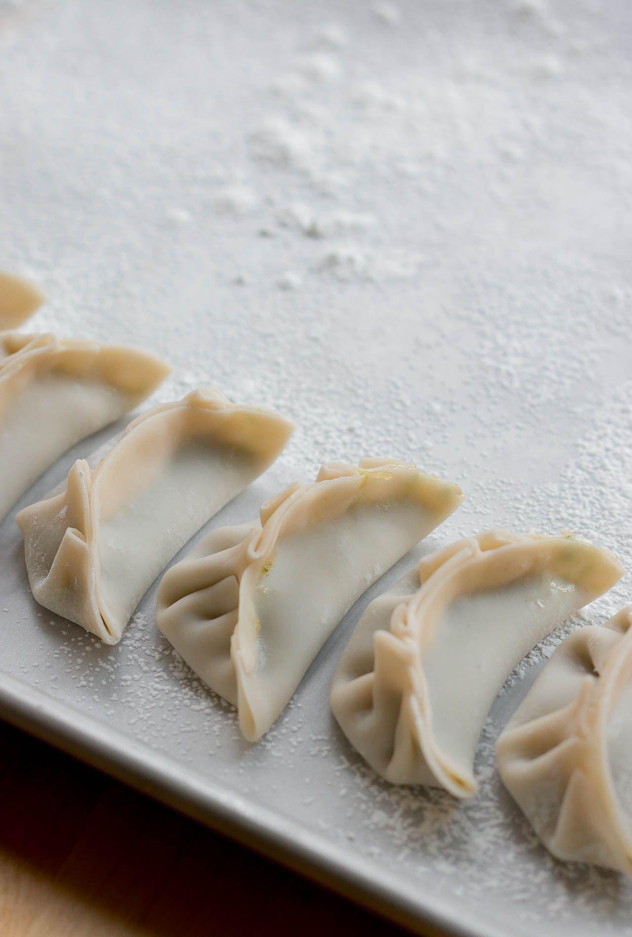 Shrimp and Chive Potsticker Dumplings