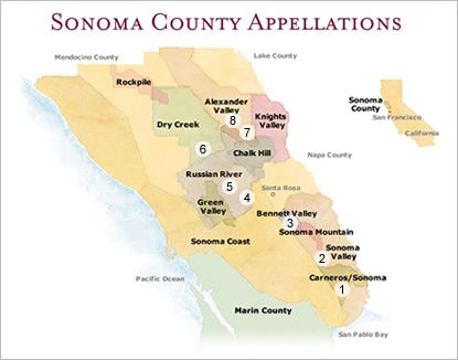 Graton California Map.Sonoma County Ava Map Sebastopol Freestone Valley Ford Bodega