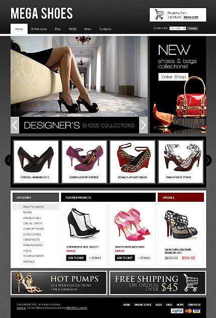 Template 33815 - Shoes Store VirtueMart Template   VGG   Pinterest ...