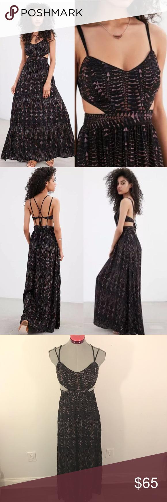 Soldnwot uo ecote hannah strappyback maxi dress modern boho