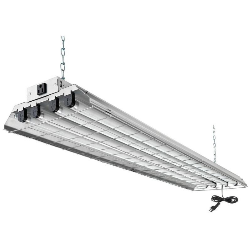 Lithonia Lighting 1284grd Re 4 Light 48 Wide 120v Fluorescent Strip Light With Matte Silver Commer Fluorescent Light Fixture Led Shop Lights Fluorescent Light