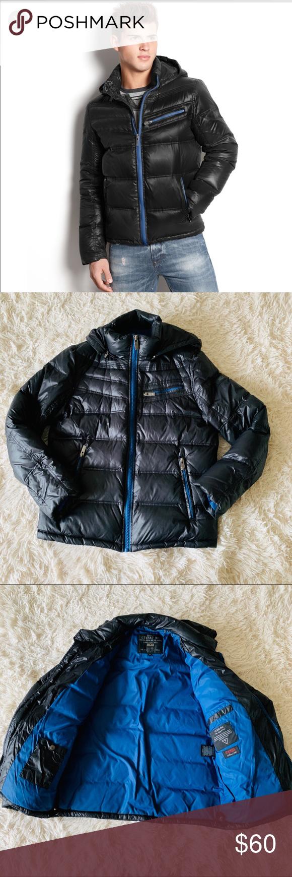 Guess Men S Puffer Jacket Mens Puffer Jacket Jackets Puffer Jackets [ 1740 x 580 Pixel ]