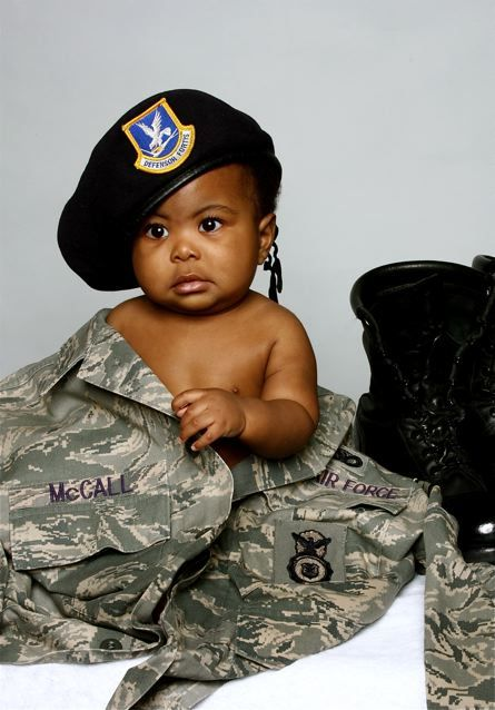 Cute Military Kid Picture Son In Dad S Or Mom S Uniform