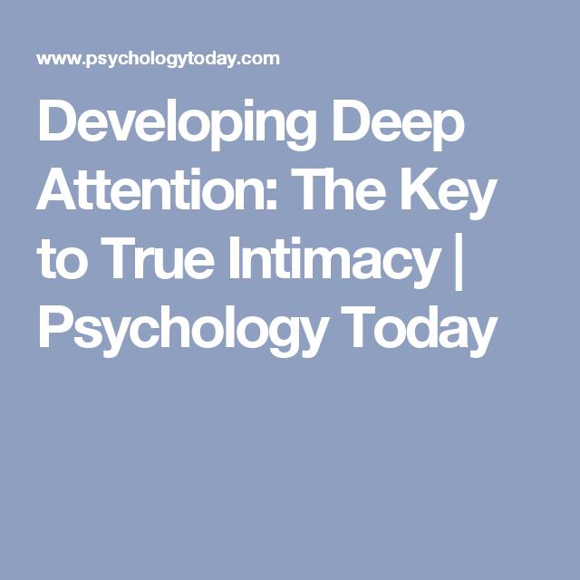 Psychology today intimacy