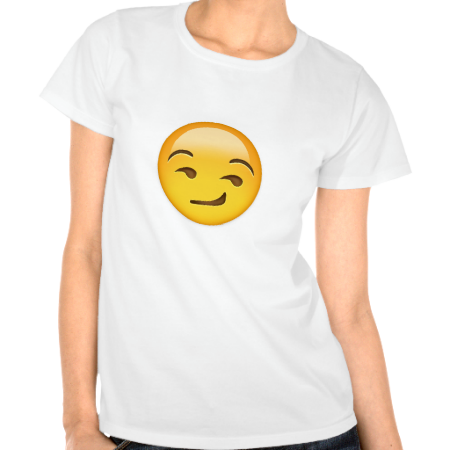 Smirking Face Emoji T Shirt Zazzle Com Novelty Tee Shirts Nana T Shirts T Shirts For Women