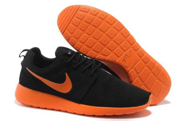 sports shoes f8e93 2fd2a UK Trainers Roshe One Nike Roshe Run Mesh Junior Mens Black Fluorescent  Orange Draw Black Firday
