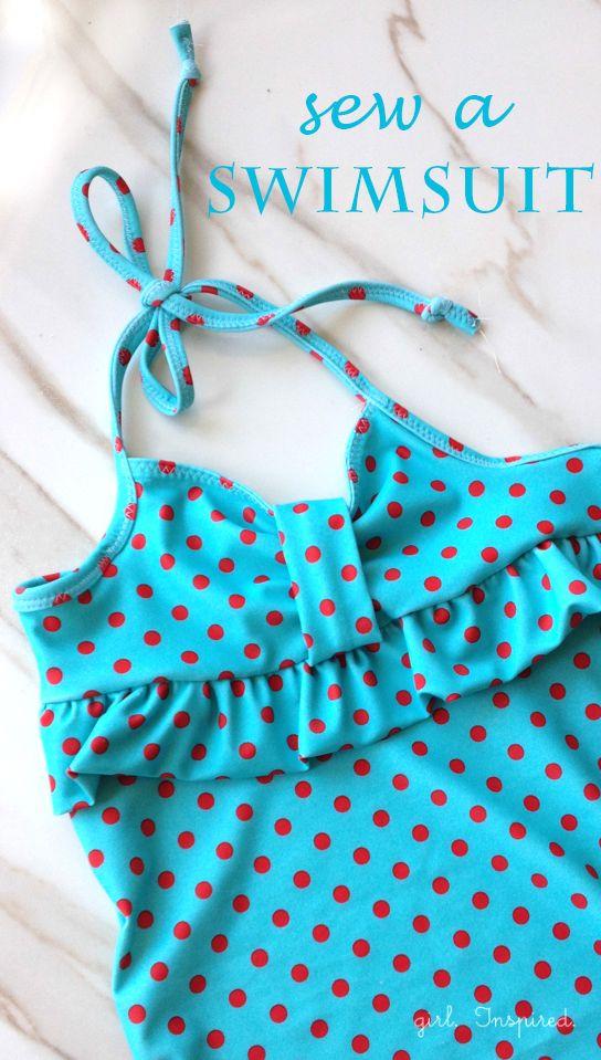 You can Sew a Swimsuit | Nähen, Nähen für kinder und Kleidung für Kinder