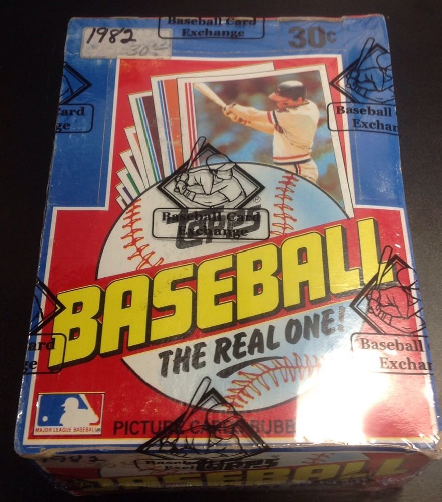 1982 topps baseball unopened wax box bbce wrapped