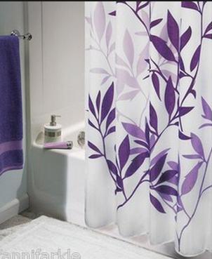 Shower Curtain Purple And White Purple Shower Curtain Fabric