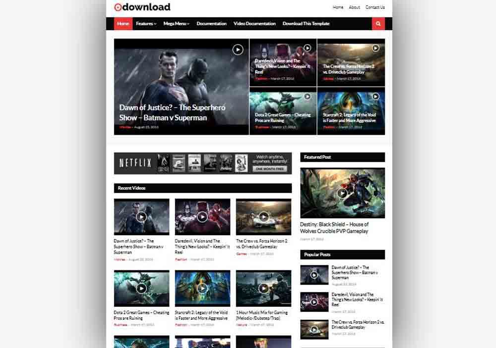 Video Download Free Blogger Template For Movies Review Blog Free Blogger Templates Blogger Templates Movie Website