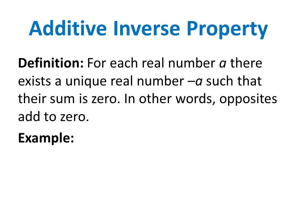 The Additive Inverse Property Yahoo Image Search Results