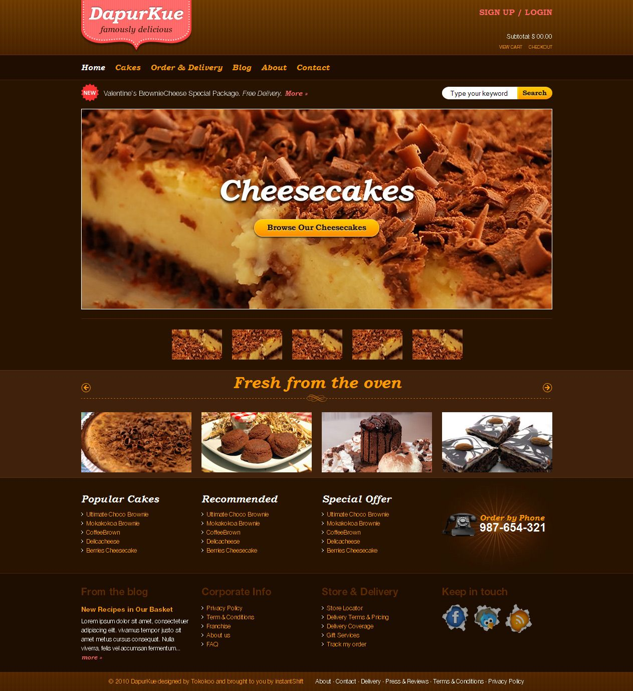 dapurkue free xhtmlcss e commerce template