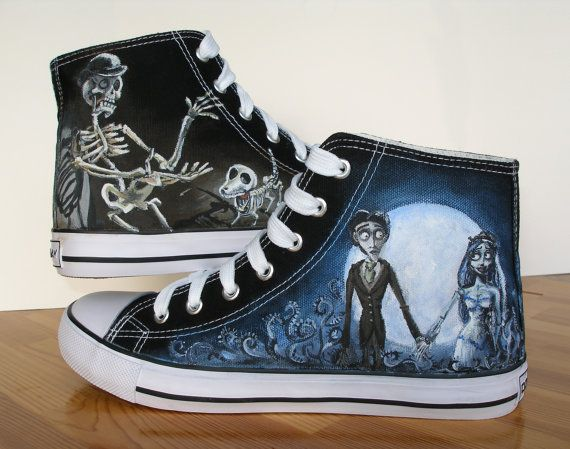 893f60ee6ae11 Custom Hand Painted Shoes Corpse Bride CHARACTER SHOES | custom ...