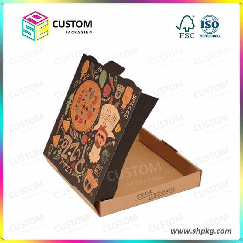 Rigid Cardboard Gift Boxes Single Custom Packaging Product Pizza