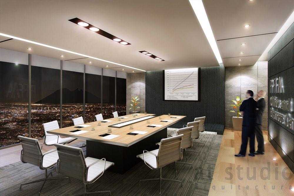 At studio arquitectura sala de juntas corporativo pfa for Arquitectura de oficinas modernas