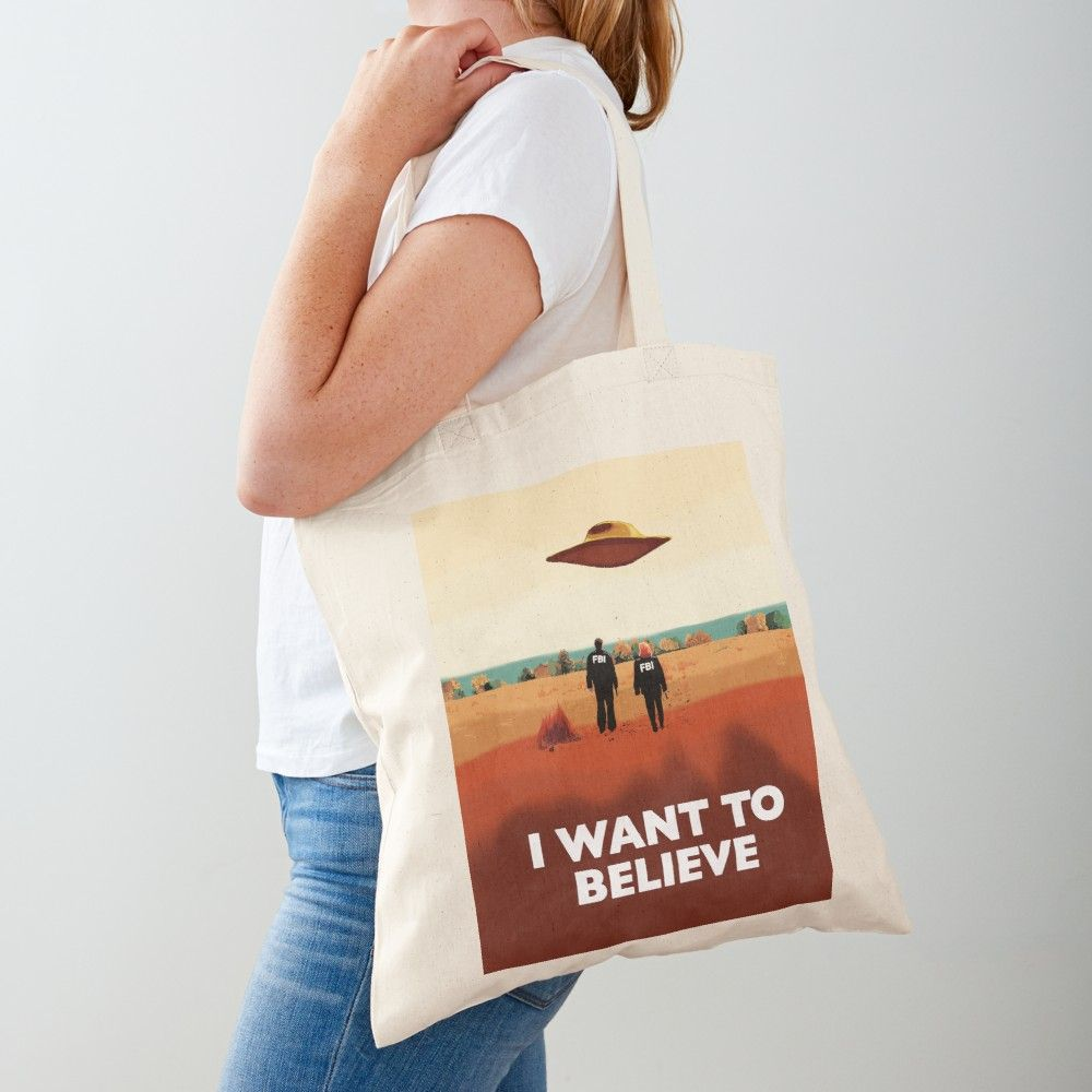 Tote bag I Want to Believe