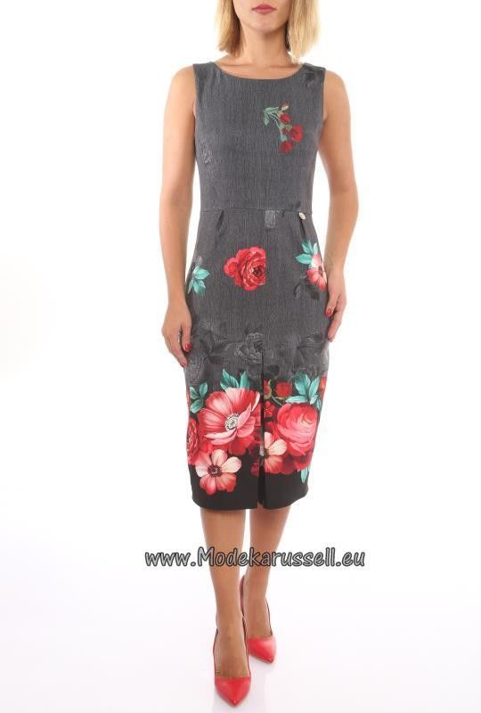 Knielanges Freizeit Kleid Alma mit Blumendruck | Kleider ...