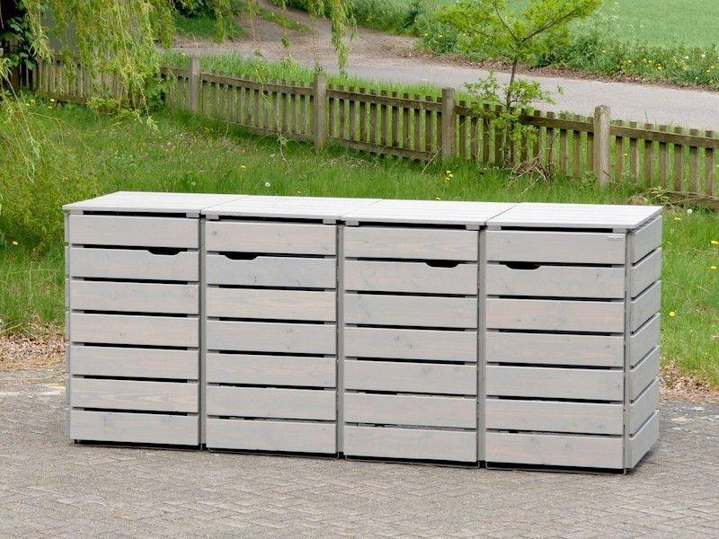 4er m lltonnenbox holz 120 liter 4er m lltonnenbox holz f r 120 l 240 l m lltonnen. Black Bedroom Furniture Sets. Home Design Ideas
